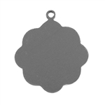 "Nickel Silver Blank - Medallion with Ring - 13/16""  Pkg - 6"