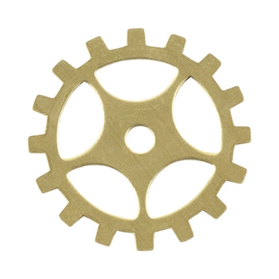 "Brass Blank - Gear with Spokes - 3/4"" Pkg - 6"