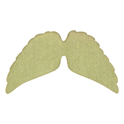 Brass Blank - Angel Wings - 39mm x 16mm Pkg - 6