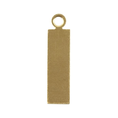 "Brass Blank - Rectangle with Rings - 11/16"" x 3/16"" Pkg - 6"