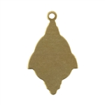 "Brass Blank - Fancy Drop w/ring - 13/16"" x 1/2"" Pkg - 6"