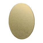 Brass Blank - Oval - 25mm x 18mm Pkg - 6