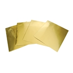 Creative Metal Brass Metal Squares Pkg - 4