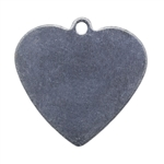 "Nickel Shape - Heart Pendant - 5/8"" Pkg - 6"