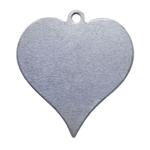 "Nickel Shape - Heart Pendant - 7/8"" Pkg - 6"