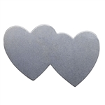 "Nickel Shape - Double Heart - 1-7/16"" Pkg - 4"