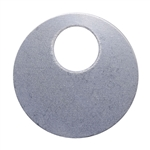 "Nickel Shape - Circle Pendant - 7/8"" Pkg - 4"