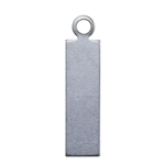 Nickel Shape - Rectangle Pendant - 5/8""