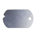 "Nickel Shape - Dog Tag Pendant - 1-1/4"" Pkg - 6"