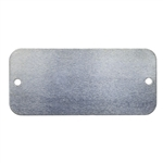 Nickel Shape - Rectangle with Holes - 1-5/8""
