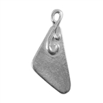 Silver Plate Shape - Flourished Triangle Pendant - 10mm x 18mm