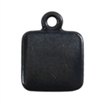 Gunmetal Plate Shape - Square Pendant - 9mm Pkg - 4