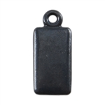 Gunmetal Plate Shape - Rectangle Pendant - 6mm x 11mm Pkg - 4