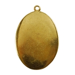 Gold Plate Shape - Oval Pendant - 22mm x 30mm Pkg - 4