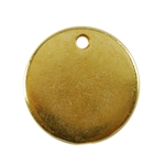 Gold Plate Shape - Round Pendant - 13mm Pkg - 4