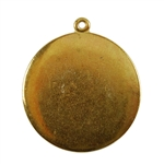 Gold Plate Shape - Round Pendant - 25mm Pkg - 2