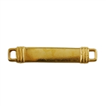 Gold Plate Shape - Banded Rectangle Connector - 34mm x 7mm Pkg - 2