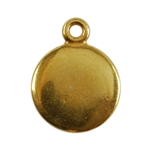 Gold Plate Shape - Round Pendant - 10mm Pkg - 4