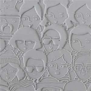 Mega Texture Tile - A Face in the Crowd Embossed