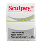 Sculpey III Polymer Clay - White 1 oz block