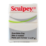 Sculpey III Polymer Clay - Translucent 2 oz block