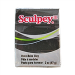 Sculpey III Polymer Clay - Black 2 oz block