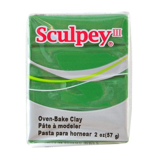 Sculpey Iii Polymer Clay Leaf Green 2 Oz Block Cool Tools