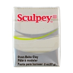Sculpey III Polymer Clay - Pearl 2 oz block