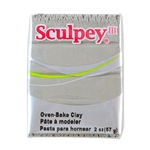 Sculpey III Polymer Clay - Pewter 2 oz block