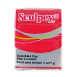 Sculpey III Polymer Clay - Deep Red Pearl 2 oz block
