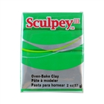 Sculpey III Polymer Clay - String Bean 2 oz block