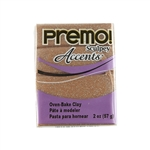 Premo Accent Sculpey Polymer Clay - Rose Gold Glitter 2 oz block