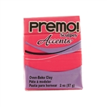 Premo Accent Sculpey Polymer Clay - Fluorescent Pink 2 oz block