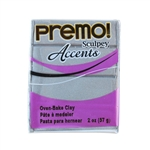 Premo Accent Sculpey Polymer Clay - Silver 2 oz block