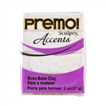 Premo Accent Sculpey Polymer Clay - White Granite 2 oz block
