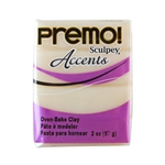 Premo Accent Sculpey Polymer Clay - White Translucent 2 oz block