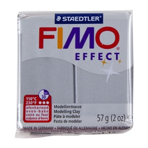 FIMO® Polymer Clay - Metallic Silver #81 2 oz block