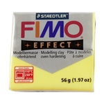 FIMO® Polymer Clay - Transparent Yellow #104 2 oz block