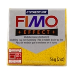 FIMO® Polymer Clay - Glitter Gold #112 2 oz block