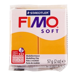 FIMO® Polymer Clay - Sunny Orange #41 2 oz block