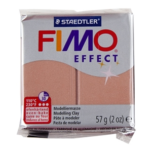 FIMO® Polymer Clay - Pearl Rose #207 2 oz block