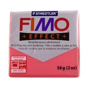 FIMO® Polymer Clay - Translucent Red #204 2 oz block