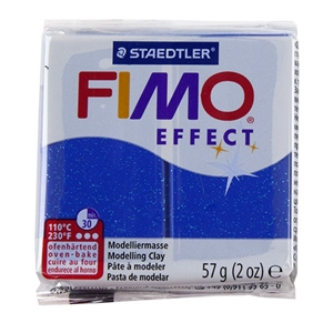 FIMO® Polymer Clay - Glitter Blue #302 2 oz block