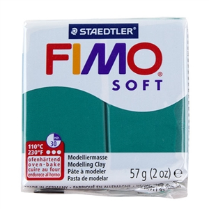 FIMO® Polymer Clay - Emerald #56 2 oz block