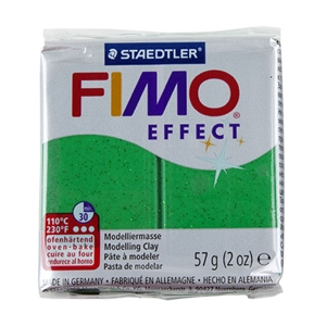 FIMO® Polymer Clay - Glitter Green #502 2 oz block