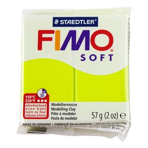 FIMO® Polymer Clay - Green Lime #52 2 oz block
