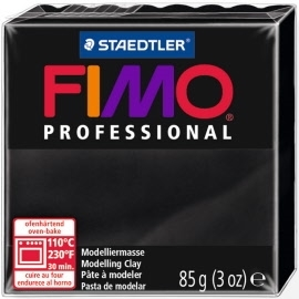 FIMO® Professional Clay - Black #9 - 2 oz block
