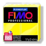 FIMO® Professional Clay - Lemon Yellow #1 - 2 oz block