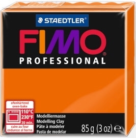 FIMO® Professional Clay - Orange #4 - 2 oz block