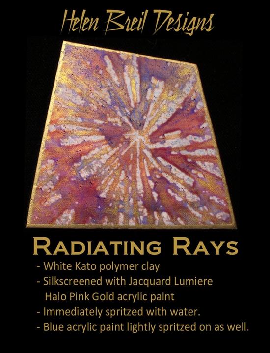 Helen Breil Silk Screen Radiating Rays Cool Tools